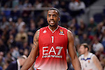 EA7 Emporio Armani Milan's Jamel Mclean during Turkish Airlines Euroleage match between Real Madrid and EA7 Emporio Armani Milan at Wizink Center in Madrid, Spain. January 27, 2017. (ALTERPHOTOS/BorjaB.Hojas)