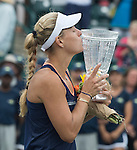 Angelique Kerber  (GER) defeats Madison Keys (USA) to win the Family Circle Cup