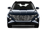 Car photography straight front view of a 2021 Hyundai Tucson Shine 5 Door SUV Front View