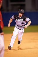Wisconsin-Milwaukee Panthers center fielder Luke Meeteer (11) during a game against the Ball State Cardinals on February 26, 2016 at Chain of Lakes Stadium in Winter Haven, Florida.  Ball State defeated Wisconsin-Milwaukee 11-5.  (Mike Janes/Four Seam Images)