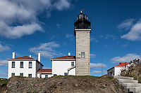 Beavertail Lighthouse, Jamestown, Rhode Island, USA.