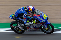 27th August 2021; Silverstone Circuit, Silverstone, Northamptonshire, England; MotoGP British Grand Prix, Practice Day; CarXpert Prustel GP rider Filip Salac on his KTM RC250GP in the Moto3 category