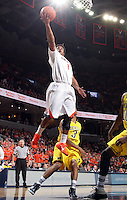 CHARLOTTESVILLE, VA- NOVEMBER 29: Jontel Evans #1 of the Virginia Cavaliers shoots the ball during the game on November 29, 2011 at the John Paul Jones Arena in Charlottesville, Virginia. Virginia defeated Michigan 70-58. (Photo by Andrew Shurtleff/Getty Images) *** Local Caption *** Jontel Evans