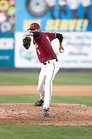 July 4, 2009: Yakima Bears pitcher Jake Hale toes the rubber during a Northwest League game against the Everett AquaSox at Everett Memorial Stadium in Everett, Washington.