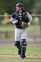 February 22, 2009:  Catcher Chad Noble (7) of Northwestern University during the Big East-Big Ten Challenge at Naimoli Complex in St. Petersburg, FL.  Photo by:  Mike Janes/Four Seam Images