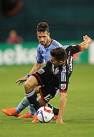 \Washington,D.C. - Saturday, May 09 2015: DC United and Sporting KC played to a 1-1 tie in a MLS match at RFK Stadium..