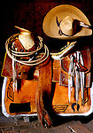 Saddle with Hat and Rope