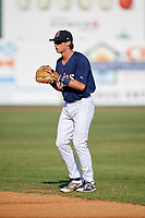 Elizabethton Twins second baseman Michael Helman (13) during a game against the Bristol Pirates on July 28, 2018 at Joe O'Brien Field in Elizabethton, Tennessee.  Elizabethton defeated Bristol 5-0.  (Mike Janes/Four Seam Images)