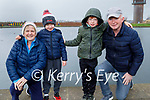 Enjoying a stroll in the Tralee Bay Wetlands on Monday, l to r: Aileen Healy, Noah and Ben Foley and Stephen Healy.