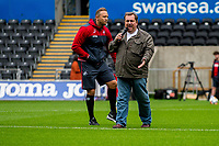 (L-R) Lee Trundle and Kev Johns during the Swansea City Training Session at The Liberty Stadium, Swansea, Wales, UK. 02 August 2017