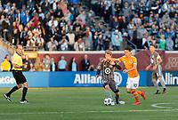 Minneapolis, MN - Saturday, April 28, 2018: Minnesota United FC played Houston Dynamo in a Major League Soccer (MLS) game at TCF Bank stadium. Final score Minnesota United FC 2, Houston Dynamo 1