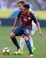 Cleveland, OH - Saturday July 15, 2017: Joe Corona celebrates his goal during a 2017 Gold Cup match between the men's national teams of the United States (USA) and Nicaragua (NCA) at FirstEnergy Stadium.