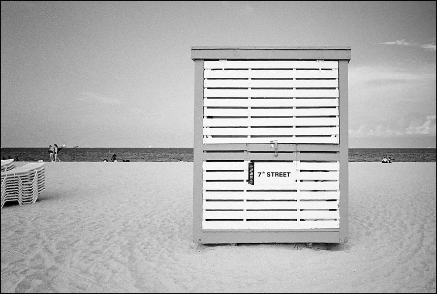 "7th Street Beach<br /> From ""The machine to live in"" series. Miami Beach, FL"