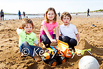 Enjoying playing on the beach in Fenit on Tuesday, l to r: William, Charlotte and Bobby Morgan.
