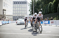 Trek Factory Racing Team at work<br /> <br /> Elite Men's Team Time Trial<br /> UCI Road World Championships Richmond 2015 / USA