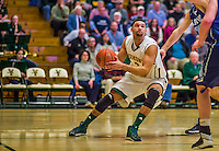 4 February 2014: University of Vermont Catamount Forward Luke Apfeld, a Senior from Chattanooga, TN, in action against the University of Maine Black Bears at Patrick Gymnasium in Burlington, Vermont. The Cats defeated the Bears 93-65 improving to 9-1 in America East and 15-9 overall. Mandatory Credit: Ed Wolfstein Photo *** RAW (NEF) Image File Available ***