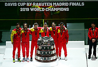 Spain recieves the Davis Cup Trophy<br /> La Caja Magica in Madrid, Spain.<br /> Tennis Davis Cup 2019 <br /> Coppa Davis FINALE<br /> Foto Alterphotos / Insidefoto <br /> ITALY ONLY