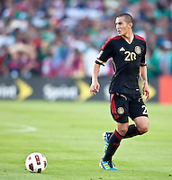 PASADENA, CA – June 25, 2011: Mexican player Jorge Torres Nilo (20) during the Gold Cup Final match between USA and Mexico at the Rose Bowl in Pasadena, California. Final score USA 2 and Mexico 4.