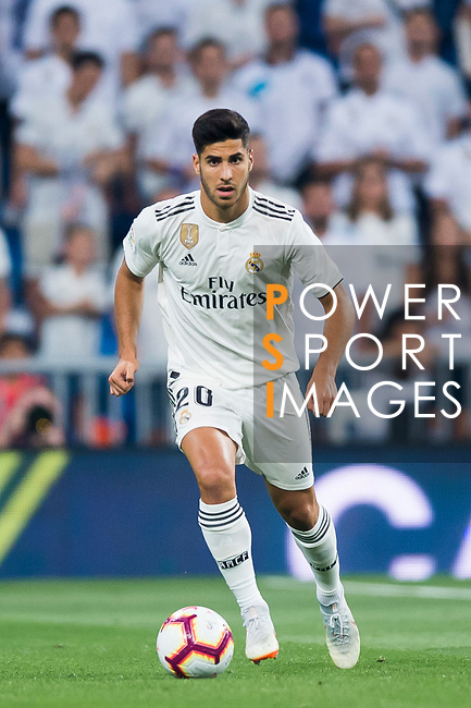 Marco Asensio Willemsen of Real Madrid in action during the La Liga 2018-19 match between Real Madrid and Getafe CF at Estadio Santiago Bernabeu on August 19 2018 in Madrid, Spain. Photo by Diego Souto / Power Sport Images