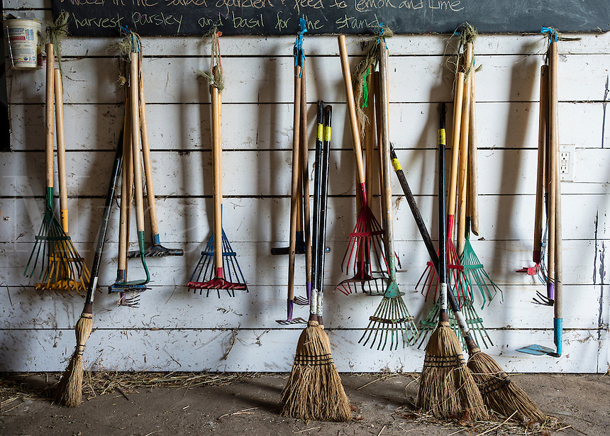 Child sized farm tools.
