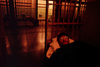 Aurora photographer Randy Olson sleeps overnight on Alcatraz.