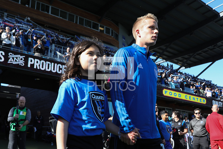 SAN JOSE, CA - FEBRUARY 29: Jackson Yueill #14 of the San Jose Earthquakes during a game between Toronto FC and San Jose Earthquakes at Earthquakes Stadium on February 29, 2020 in San Jose, California.