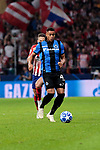 Arnaut Danjuma during UEFA Champions League match between Atletico de Madrid and Club Brugge at Wanda Metropolitano Stadium in Madrid, Spain. October 03, 2018. (ALTERPHOTOS/A. Perez Meca)