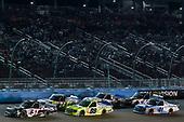 #51: Harrison Burton, Kyle Busch Motorsports, Toyota Tundra DEX Imaging and #88: Matt Crafton, ThorSport Racing, Ford F-150 Ideal Door/Menards