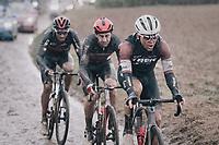 Toms Skujins (LVA/Trek - Segafredo)<br /> <br /> 118th Paris-Roubaix 2021 (1.UWT)<br /> One day race from Compiègne to Roubaix (FRA) (257.7km)<br /> <br /> ©kramon