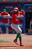 Washington Nationals Josh Bell (19) bats during a Major League Spring Training game against the New York Mets on March 18, 2021 at Clover Park in St. Lucie, Florida.  (Mike Janes/Four Seam Images)