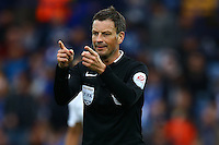 Referee Mark Clattenburg during the Barclays Premier League match between Leicester City and Swansea City played at The King Power Stadium, Leicester on 24th April 2016