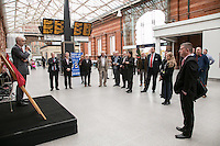 Andy Savage, Trustee of the National Railway Heritage Awards addresses the audience
