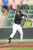 Trey Michalczewski (27) of the Kannapolis Intimidators at bat against the Greensboro Grasshoppers at CMC-Northeast Stadium on June 12, 2014 in Kannapolis, North Carolina.  The Grasshoppers defeated the Intimidators 5-2.  (Brian Westerholt/Four Seam Images)