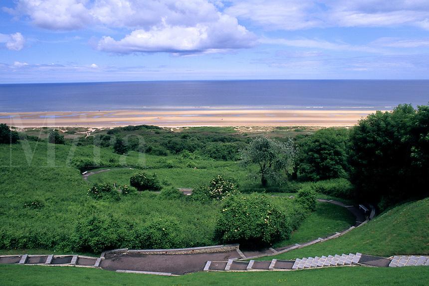 location of landings on Omaha Beach in World War II  Normandy France