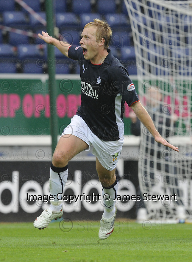 27/09/2008  Copyright Pic: James Stewart.File Name : sct_jspa10_falkirk_v_hamilton.SCOTT ARFIELD CELEBRATES AFTER HE SCORES FALKIRK'S SECOND.James Stewart Photo Agency 19 Carronlea Drive, Falkirk. FK2 8DN      Vat Reg No. 607 6932 25.Studio      : +44 (0)1324 611191 .Mobile      : +44 (0)7721 416997.E-mail  :  jim@jspa.co.uk.If you require further information then contact Jim Stewart on any of the numbers above........