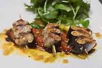 """Europe/France/Bretagne/29/Finistère/ Pont-Aven: Sardines grillés tomates basilic, citron  recette de Franck Sébilleau, Restaurant """"Sur le Pont"""" Restaurant """"Sur le Pont"""""""