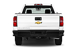 Straight rear view of 2018 Chevrolet Silverado 1500 1WT Regular Cab Long Box 3 Door Pick-up Rear View  stock images
