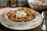 Seafood Gumbo prepared by Matt Regan Victorian Inn Lafiette New Orleans