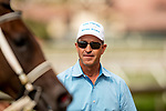 JULY 17, 2021: Trainer Todd Fischer after winning a race at Del Mar Fairgrounds in Del Mar, California on July 17, 2021. Evers/Eclipse Sportswire/CSM