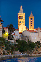 The medieval town and cliffs Rab. Rab Island, Craotia