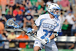 Baltimore, MD - March 17:  Midfielder Rob Guida #27 Hopkins during the Syracuse v Johns Hopkins mens lacrosse game at  Homewood Field on March 17, 2012 in Baltimore, MD.(Ryan Lasek/Eclipse Sportswire)