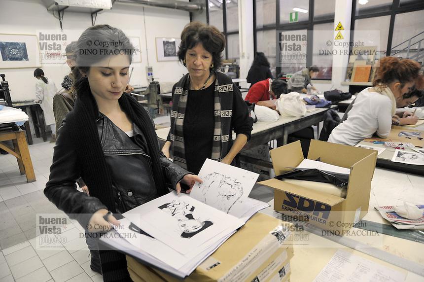 - Milano, Accademia di belle Arti di Brera, laboratorio di grafica<br /> <br /> - Milan, the Brera Academy of Fine Arts, graphics workshop