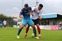 Aaron Cosgrave of Lewes and Ahmet Rifat of Wingate & Finchley during Wingate & Finchley vs Lewes, Pitching In Isthmian League Premier Division Football at the Maurice Rebak Stadium on 3rd October 2020