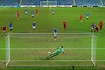 25.02.2021 Rangers v Royal Antwerp: Cedric Itten scores goal no 5 for Rangers