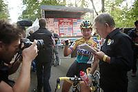 Nikki Harris (GBR/Telenet-Fidea) post-race<br /> <br /> GP Neerpelt 2014