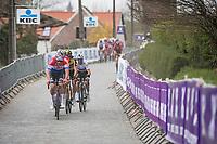Mathieu Van der Poel (NED/Alpecin-Fenix)<br /> <br /> 105th Ronde van Vlaanderen 2021 (MEN1.UWT)<br /> <br /> 1 day race from Antwerp to Oudenaarde (BEL/264km) <br /> <br /> ©kramon