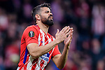 Diego Costa of Atletico de Madrid reacts during the UEFA Europa League quarter final leg one match between Atletico Madrid and Sporting CP at Wanda Metropolitano on April 5, 2018 in Madrid, Spain. Photo by Diego Souto / Power Sport Images