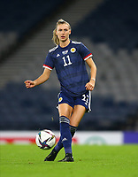 21st September 2021; Hampden Park, Glasgow, Scotland: FIFA Womens World Cup qualifying, Scotland versus Faroe Islands; Jenna Clark of Scotland on the ball