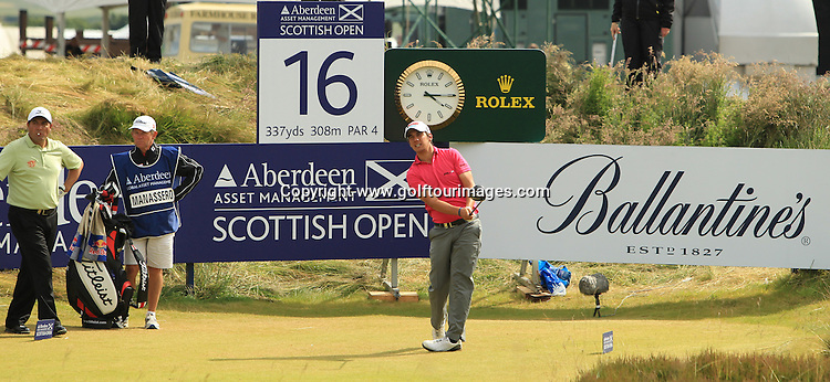 Matteo Manassero (ITA) during the third round of the 2012 Aberdeen Asset Management Scottish Open being played over the links at Castle Stuart, Inverness, Scotland from 12th to 15th July 2012:  Stuart Adams www.golftourimages.com:14th July 2012