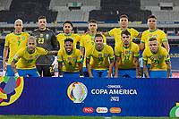 5th July 2021; Nilton Santos Stadium, Rio de Janeiro, Brazil; Copa America, Brazil versus Peru; Players of Brazil pose for their official team photo